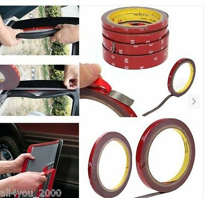 NEW 3m Strong Permanent Double Sided Super Sticky Tape Roll For Vehicle  Stock
