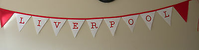 Liverpool Football Club Fabric Bunting Banner Bedroom Decoration CHRISTMAS Gift