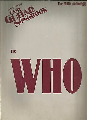 The Who Anthology Easy Guitar Song Book