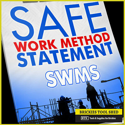 Safety SWMS OHS Management System Risk for Bricklaying, MSDS, over 50 documents