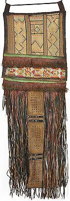 Nice Old African Tuareg Woven Straw Leather Decoration Niger