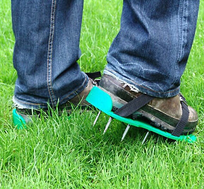 Lawn Aerator Sandals Shoes Grass Spiked Green Gardening Walking Revitalizing J04