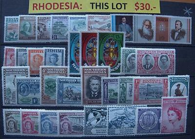 Rhodesia 35 Mint Stamps Special Lot