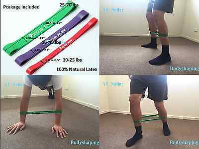 Heavy Duty Resistance Band Loop Power Gym Fitness Exercise Yoga Workout AU