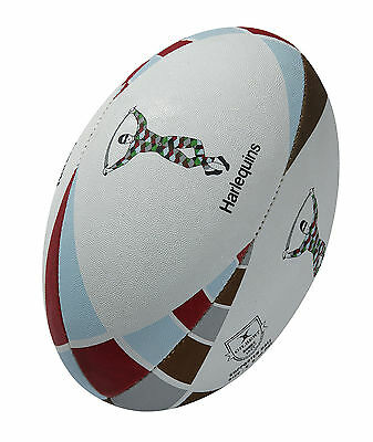 Gilbert Rugby Club Players Training & Practice Supporter Harlequins Ball Size 4