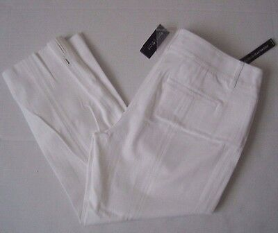 White House Black Market Women's White Bi-Stretch Crop Pant Size 8,12,14 NWT