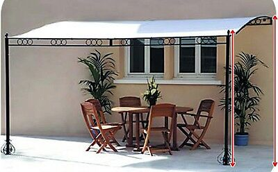 Pergola Canopy Shelter Gazebo Garden Structure Outdoor Patio Wall Awning Marquee