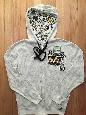 NWT Peanuts and Gang Youth Full Zip Reversible Hoodie (10E)