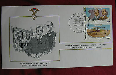 Togo. First Day Cover. The Wright Brothers. (2)