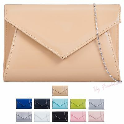 New Patent Wedding Ladies Party Prom Evening Clutch Hand Bag Purse Handbag