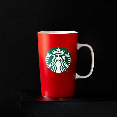 2015 Starbucks Coffee Holiday Christmas Red 16 Oz Cup Mug Ceramic New In Boxes