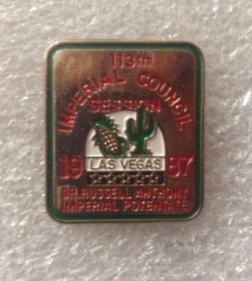 Shriners 1987 113 Imperial Council Las Vegas Dr Russell Anthony Imp Potentate