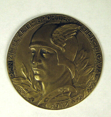 Hungarian Fencing Medal, god Mercury, over 100 years old,  first place winner