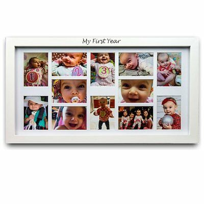 New! 12 Month Baby First Year picture Frame monthly memories