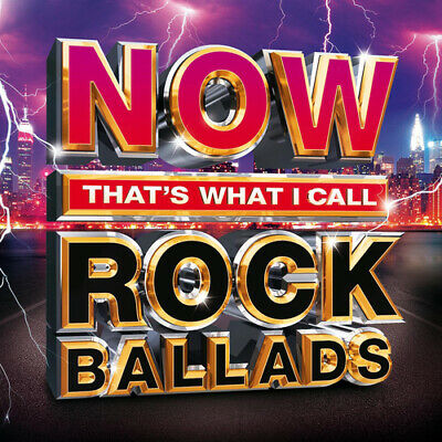 Various Artists : Now That's What I Call Rock Ballads CD (2016)
