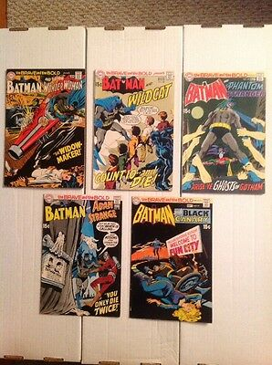 BRAVE AND THE BOLD (DC 1970) Consecutive Lot #87 88 89 90 91! 1st Wildcat! VF