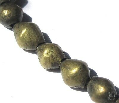 16 Rare Amazing Old Brass Bicone/oval Antique Beads African Trade