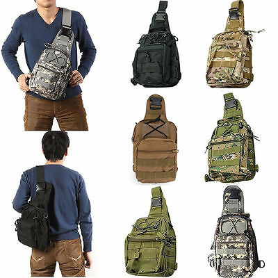 Outdoor Military Tactical Backpack Camping Travel Hiking Trekking Shoulder Bag@