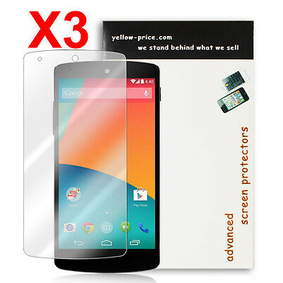 for Google Nexus 5-3 Pack HD NEW 2014 Ultra Thin Crystal Clear Screen Protector