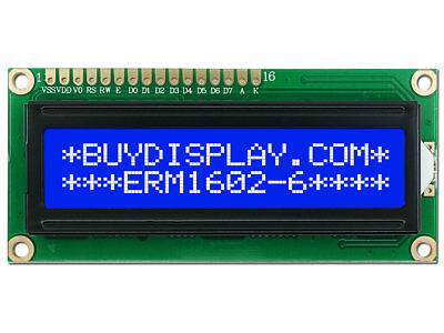 3.3V Blue 16x2 LCD Module Character Display w/Tutorial,HD44780,Bezel,Backlight