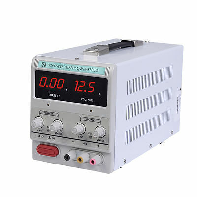 30V 5A 220V Adjustable Power Supply Precision Variable DC Digital Lab UK STOCK