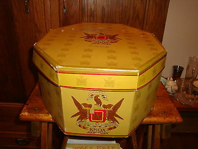 Vintage Knox New York Hat Box with Graphics