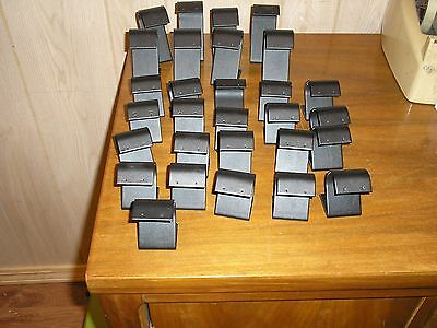Lot Of 29 Used Black Satin Pierced Earring Display Stands