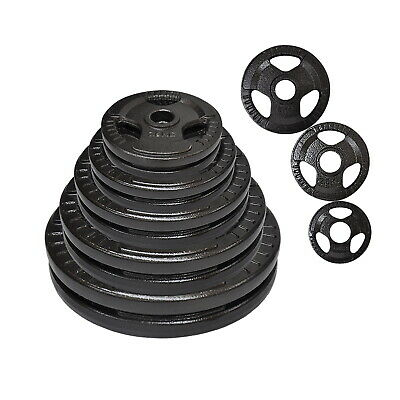 Total 100Kg Olympic Cast Iron Weight Plate Set -Energetics Weight Plates Set