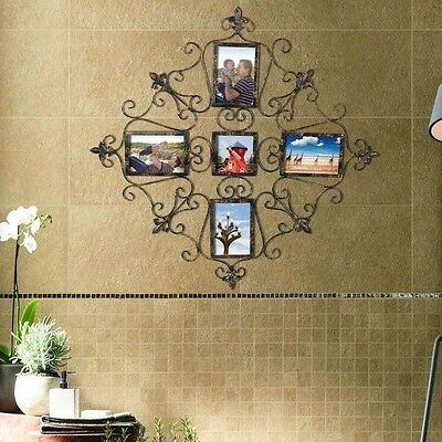 Adeco 5-Opening Metal Photo Picture Collage Frame