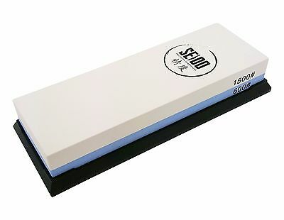 Seido 600/1500 Grit Combination Corundum Whetstone Knife Sharpening Stone