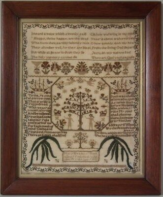 Antique Sampler, circa 1830, by Mary Evans