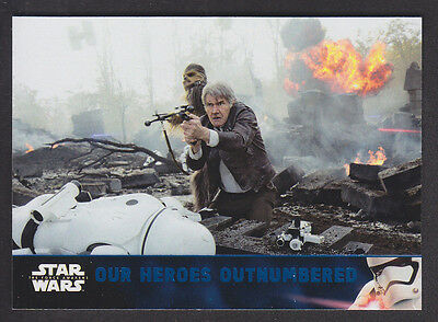 Topps Star Wars - The Force Awakens Series 2 - Blue Parallel Card # 69
