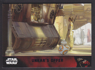 Topps Star Wars - The Force Awakens - Purple Parallel Card # 82