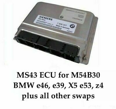 Chip Tuned ECU MS43 242hp 7000 rpm +EWS Delete for BMW E46 E53 E39 Z3 M54B30