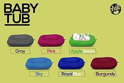 Chill Baby Tub Floating Soft Pillow Newborn Support Bath Safe Pad Lounger Seat