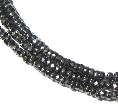 """20"""" Strand Of Teeny Tiny Old Amazing """"steel"""" Cut Antique Metal Beads"""