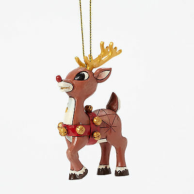 Enesco JSH6 Christmas Jim Shore Rudolph With Gold Antlers Ornament 4041651