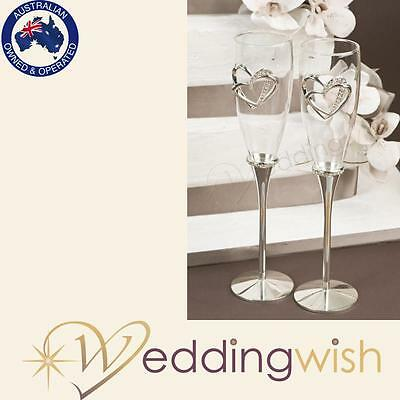Wedding Toasting Glasses - Sweetheart Deluxe Champagne Flutes,