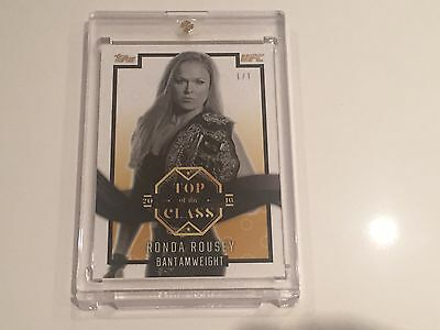 2016 Topps UFC 207 Top of the Class RONDA ROUSEY GOLD #1/1!!!