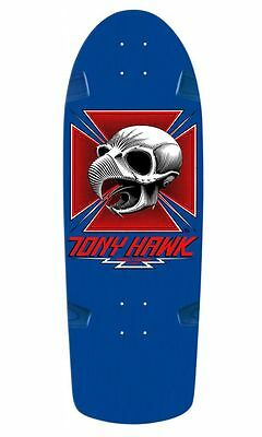 Powell Peralta BONES BRIGADE Tony Hawk CHICKEN SKULL Skateboard BLUE