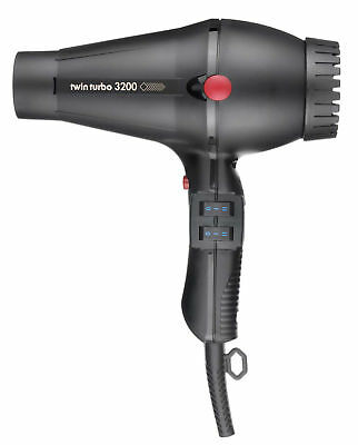 Twin Turbo 3200 Compact Lightweight Hair Dryer Made In Italy by Parlux Hairdryer