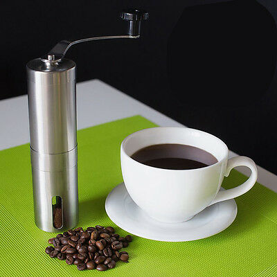 Manual Coffee Grinder,Coffee Beans and Spices Mill with Ceramic Burr Stainless