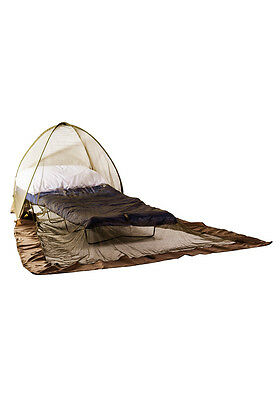 Pyramid Pop Up Freestanding Dome Mosquito Insect Net Green Repellent Treated