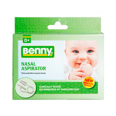 Benny Baby Nasal Aspirator Clear Babies Blocked Nose Mucus Vacuum Cold Allergy