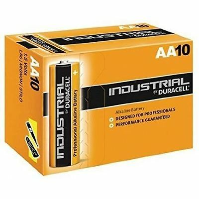 NEW Duracell AA Industrial MN1500 Batteries for Cameras / Toys & more - 10 Pack