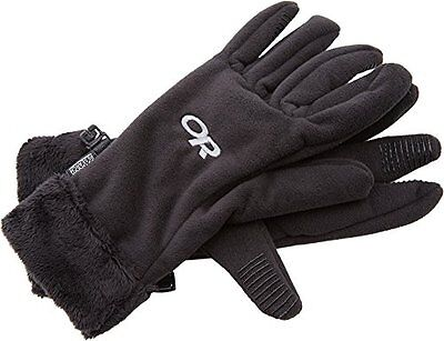 Outdoor Research Womens Fuzzy Gloves Black, Small