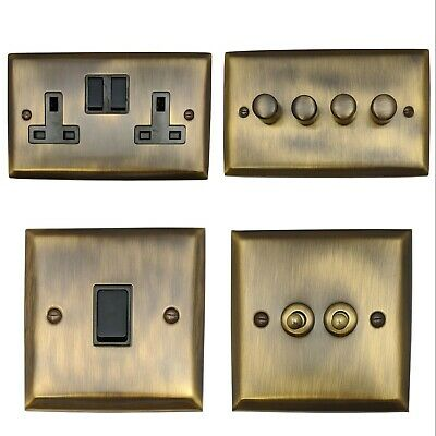 Spectrum Antique Bronze SABB Light Switches, Plug Sockets, Dimmers, Cooker, Fuse