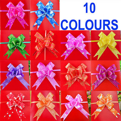 30mm Pull Bow Decorations Medium Xmas Gift Wrap, Wedding Car Pew Floristry Bows