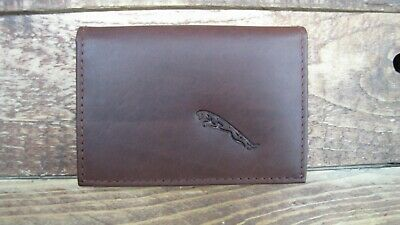 ID holder IT126 licence Triumph logo Brown Leather credit card size wallet