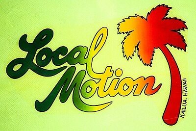 """3.25"""" Vintage style Local Motion Hawaii STICKER. Surfing, surfboard 420 for bong"""